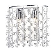Sestina Wall in Polished Chrome with Crystal Glass Beads, Switched - där SES0950
